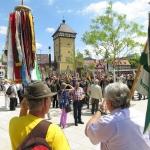 Bunte Wimpel am Tübinger Tor: Landesfest in Reutlingen 2014