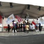 Fahnenschwinger des Hohenloher Gaus zeigen aus Anlass des 50-jährigen Jubiläums die Fahnenchoreographie »Deutsche Reihe«