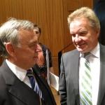 Franz Untersteller, Landesminister für Umwelt, Klima und Energiewirtschaft und Albvereins-Präsident Dr. Rauchfuß