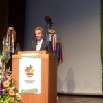 Minister Franz Untersteller auf der Hauptversammlung in Reutlingen