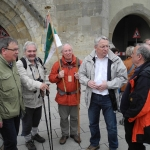 Ankunft der Wimpelwanderer am Tübinger Tor