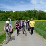 Unterwegs von Reutlingen nach Sigmaringen: Landesfest-Wimpelwanderer (Foto Klemp)