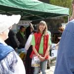 Karin Kunz am Stand der HWA