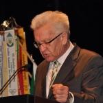 Ministerpräsident Kretschmann bei seiner Festansprache, Jahreshauptversammlung, Stadthalle Sigmaringen (Foto Ebert)