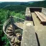 Wendeltreppe und atemberaubende Aussicht von der Ruine Wartstein
