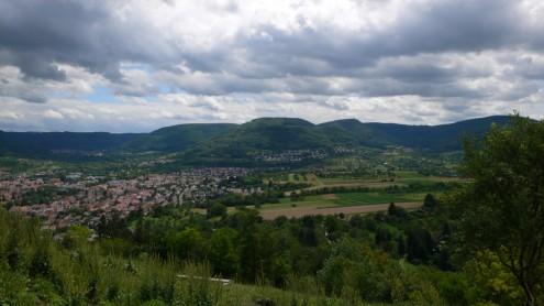 Blick vom Georgenberg zum Schönbergturm
