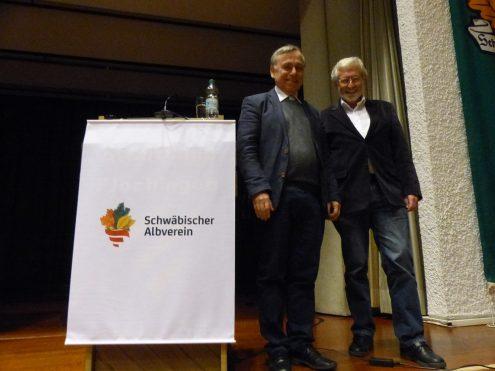 Albvereinspräsident Dr. Rauchfuß und Prof. Mezger